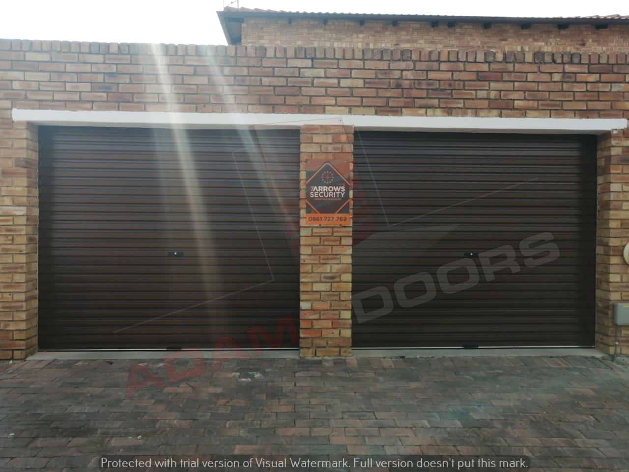 2x Single Brown RAD Doors