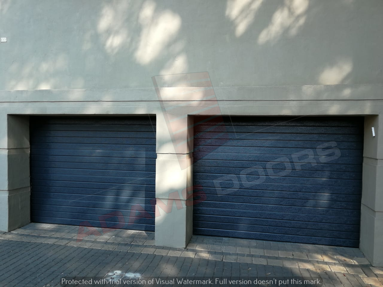 2x Single Charcaol contemp doors