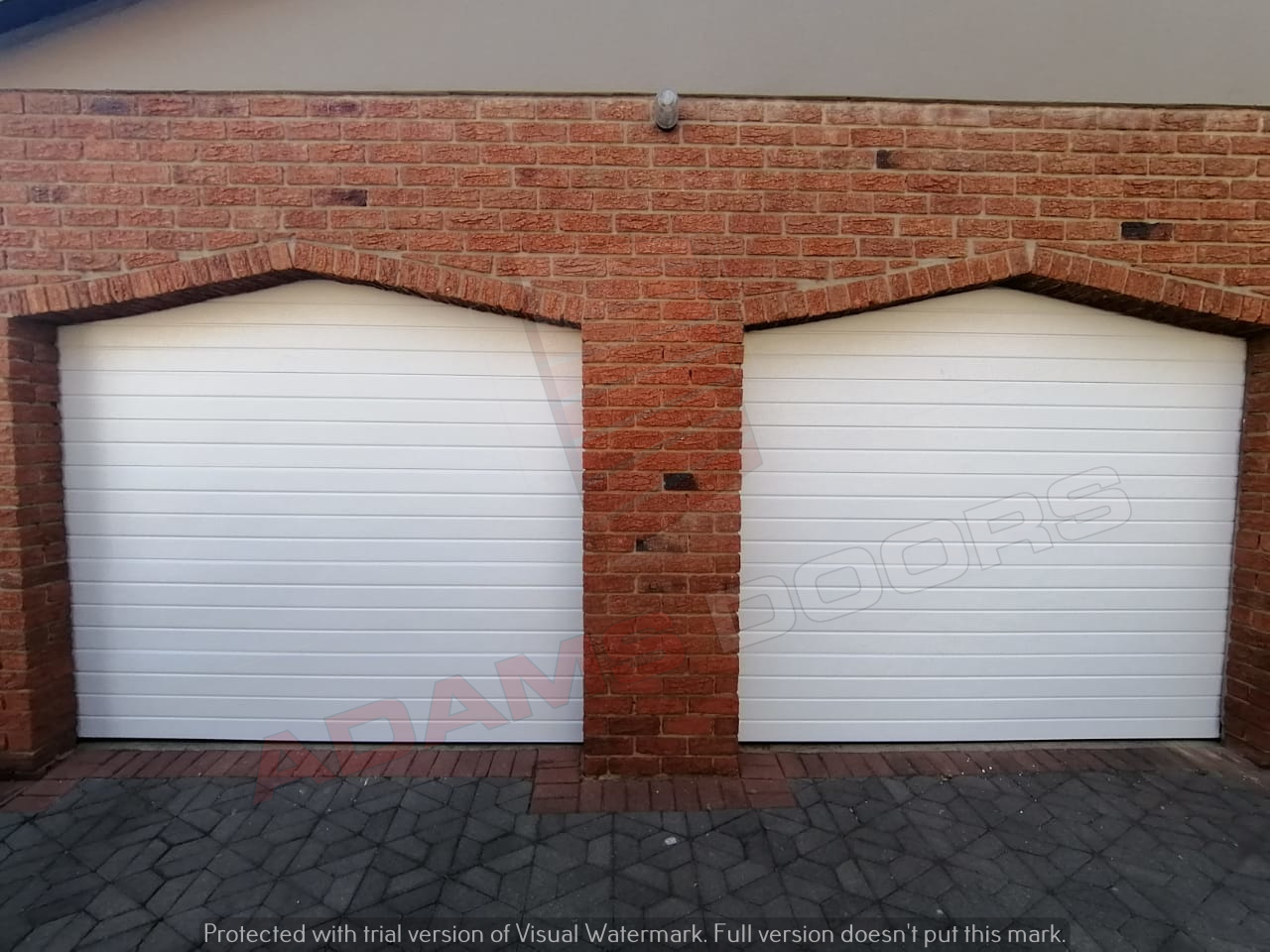 2x Single white contemp doors