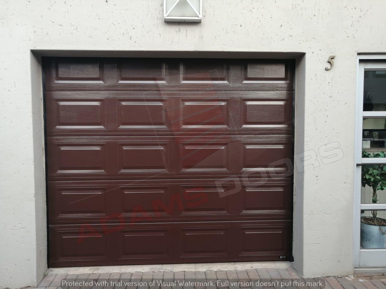 Single brown statesman door